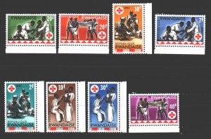 Rwanda. 1963. 44-51. Red Cross medicine. MNH.