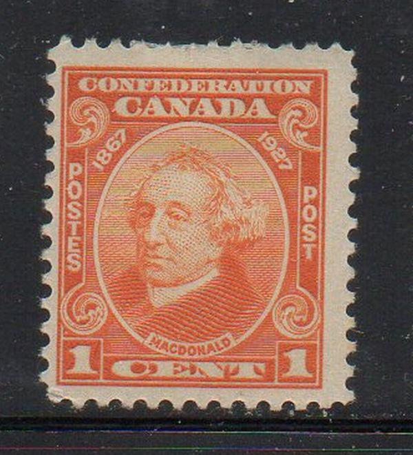 Canada Sc 141 1927 1c Sir John A Macdonald stamp mint