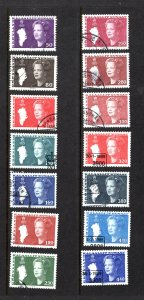 Greenland 120-133  VF, Postally Used, Complete Set, CV $16.65 .... 2510046