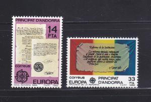 Andorra Spanish 143-144 Set MNH Europa