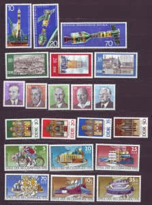 J22672 Jlstamps 1975-6 germany 5 dif ddr sets mnh #1683//1722-5,b80-1 designs