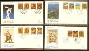 1984 - Rep. Surinam FDC E081ABCD - Sport - Olympics - Los Angeles 84 [B33_095]