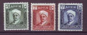 J20867 Jlstamps 1942 aden shihr & mukalla mh #1-3 sultan