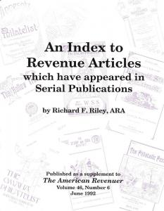 An Index to Revenue Articles ,
