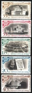Romania. 1959. 1795-1800 from the series. 500 years of Bucharest, buildings, ...