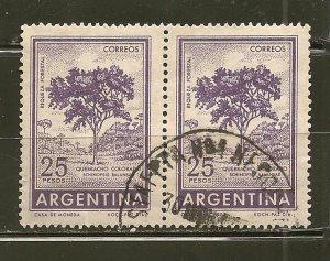 Argentina 703 Tree Pair Used
