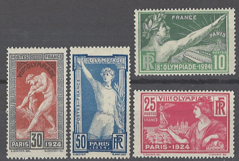 COLLECTION LOT OF # 1931 FRANCE #198-201 MH 1924 CV+$40
