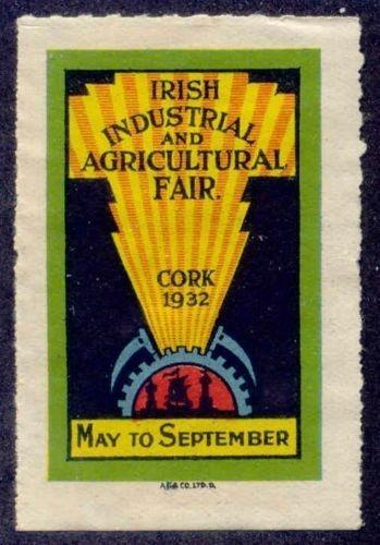 Ireland 1932 Cork Industrial & Agricultural Fair Poster Stamp