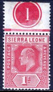 Sierra Leone - Scott #91 - MNH - Hinged in selvage - SCV $6.25