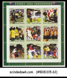 GUINEA BISSAU - 2001 SYDNEY 2000 VENCEDORS / FOOTBALL - MIN. SHEET MNH