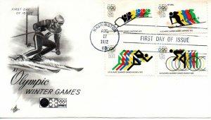US FDC #1460/C85 Olympics, ArtCraft (1586)