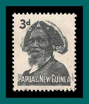 Papua New Guinea 1961 Tribal Elder, used  154,SG29