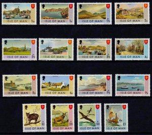 Isle of Man 1973, Bailiwick Issues  MNH Set   # 12-27