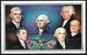 1986 Belize #816  $4 George Washington MNH S/S