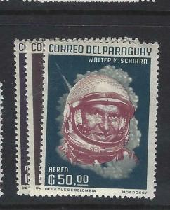 PARAGUAY  (P2505B)  ASTRONAUTS  SC C149-151   MOG