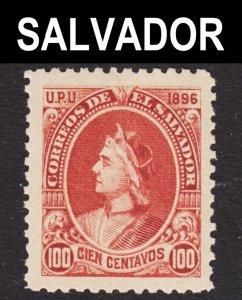 El Salvador Scott 170L unwtmk VF mint OG NH. 1st issue. Key issue.