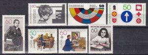 Germany #1286-7, 1289-93 MNH CV $4.80 (Z7555)