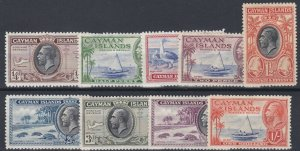 CAYMAN ISLANDS  1935  SG 96 - 104  PART SET TO  1/-  MH CAT  £31 LIGHTLY TONED
