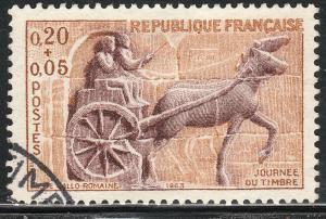 FRANCE B370, 20+5c ROMAN CHARIOT. USED. VF. (15)