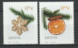 Lithuania 2018 Christmas 2 MNH stamps