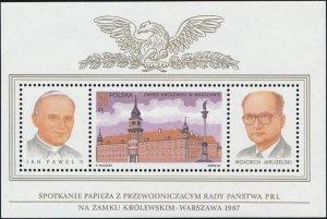Poland 1987 Visit of Pope John Paul II #2804  cat.: 60$ Mint NH