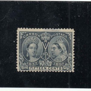 CANADA # 58 F-MH(Thinned) 15cts JUBILEE CAT VALUE $150