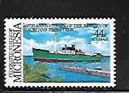 MICRONESIA, C20, MNH, NAURUANS SHIP
