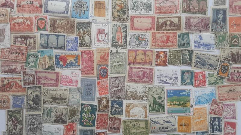 300 Different Algeria Stamp Collection