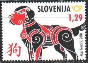 Slovenia. 2018. 1289. Chinese New Year, Year of the Dog. MNH.