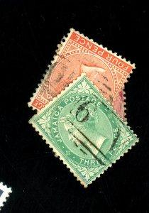 Jamaica #2,4,9-10 Used Fine Cat$149