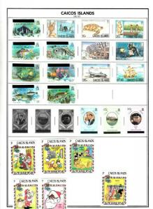 CAICOS ISLAND 1981-83  VALUES/SETS MINT