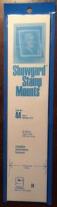 Showgard Stamp Mounts Size 44/215 BLACK Background Pack of 15