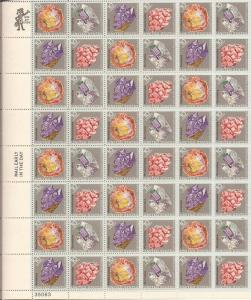 US Stamp - 1974 Mineral Heritage - 48 Stamp Sheet - Scott #1538-41