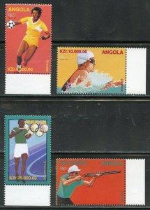 ANGOLA 1996 ATLANTA  OLYMPIC GAMES SET MINT NH