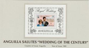 1981 Anguilla Princess Diana and Charles Wedding of The Century SS MNH