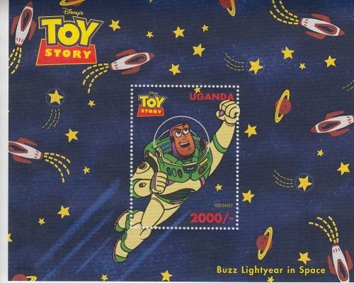 1997 Uganda Disney Toy Story Buzz Lightyear SS  (Scott 1484)