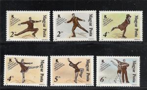 Hungary #3111-6 comp mnh cv $3.65 figure skating