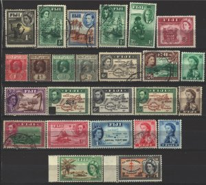 COLLECTION LOT # 5076 FIJI 25 STAMPS 1904+ CV+$21