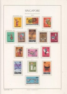 SINGAPORE, 1968 definitive set of 15, mnh.