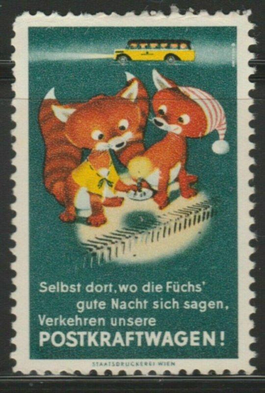 Postkraftwagen Cinderella Poster Stamp Reklamemarken A7P4F818