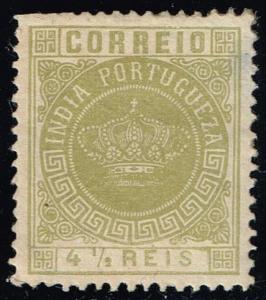 Portuguese India #163 Portuguese Crown; Unused (0.95)