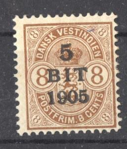 Danish West Indies, 1905 Overprint Scott # 42 full original gum, heavy hinge