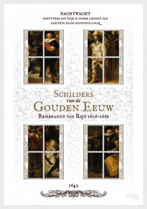 Stamps Caribbean Netherlands 2019. - Rembrandt & the Dutch Golden Age - The Nigh