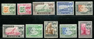 Zanzibar SC# 264-73 SG# 358-67  Sultan Seyyid Sir Abdulla bin Khalifs  MH