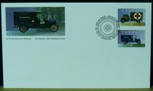 3211   Canada   FDC's   # 1527a-f   Historic Vehicles - 2     CV$ 9.00