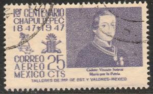 MEXICO C180, 25c 1847 Battles Centennial. Used. F-VF. (918)