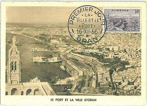 38758  - Algeria - POSTAL HISTORY -  MAXIMUM CARD   1956 - ARCHITECTURE