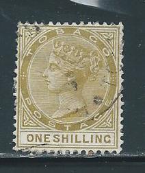 Tobago 23 1sh Victoria single Used