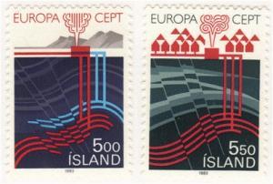 Iceland #573-4 MLH Europa set