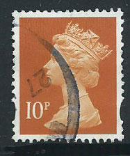 GB Machin 10p QE II  SG Y1676 Fine Used might be 1767